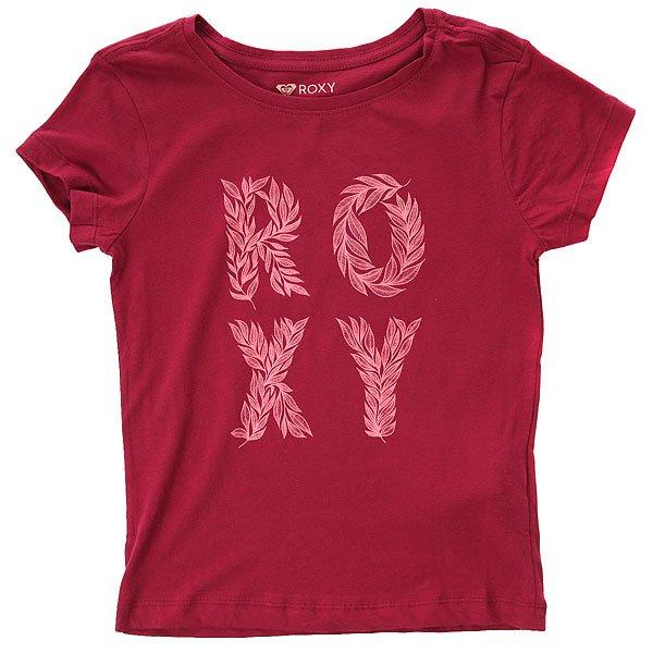 Футболка детская Roxy Rgbasicwild Red Plum<br><br>Цвет: бордовый<br>Тип: Футболка<br>Возраст: Детский