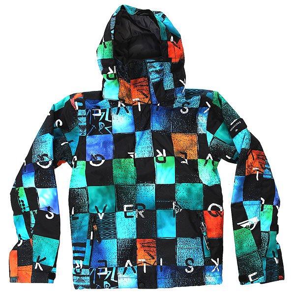 Куртка детская Quiksilver Mission Print Chakalapaki OriginС детской сноубордической курткой Quiksilver Mission Printed Вашему юному райдеру несложно будет подстроиться под самый широкий спектр зимних погодных условий. Она выполнена из технологичной водостойкой ткани DryFlight с мембранными показателями 10 000 мм / 10 000 г и содержит утеплитель Warmflight®, который позаботится об оптимальной температуре тела. Важные детали, такие как снегозащитная юбка, манжеты из лайкры с отверстием для большого пальца и система присоединения куртки к штанам позволят оставаться в сухости и комфорте даже в самый снежный и щедрый на паудер день сезона.Характеристики:Куртка для детей 8-16 лет. Влагостойкая ткань DryFlight 10K (10 000 мм / 10 000 г). Утеплитель Warmflight®: 120 г тело / 100 г рукава / 80 г капюшон. Подкладка из тафты и трикотажа с начёсом. Стандартный крой. Проклеенные критические швы. Снегозащитная юбка. Система присоединения куртки к штанам. Регулируемый капюшон на липучке Velcro.Боковые карманы на молнии. Внутренний карман для маски. Карман для ски-пасса на молнии на рукаве. Регулируемые внешние манжеты на липучке. Манжеты из лайкры с отверстием для большого пальца. Вентиляционные отверстия с сетчатой подкладкой.<br><br>Цвет: мультиколор<br>Тип: Куртка утепленная<br>Возраст: Детский