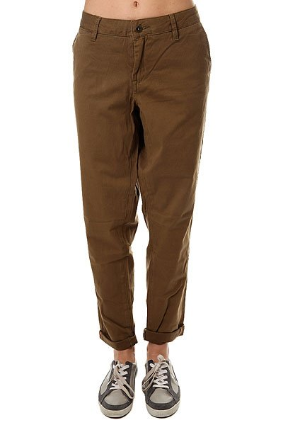Штаны прямые женские Roxy Sunkissers Military Olive<br><br>Цвет: зеленый<br>Тип: Штаны прямые<br>Возраст: Взрослый<br>Пол: Женский