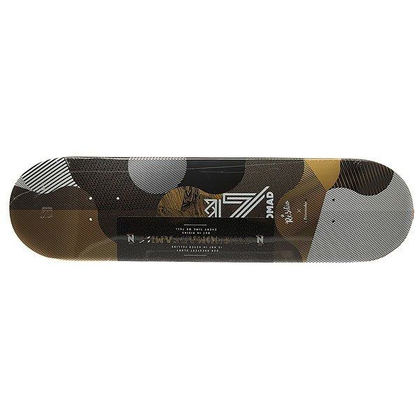Дека для скейтборда для скейтборда Nomad Resilio Gold Deck Multi 32 x 8.125 (20.6 см)Ширина деки: 8.125 (20.6 см)    Длина деки: 32 (81.3 см)    Количество слоев: 7Уникальная дека из клена со стильным принтом – подчеркни свой стиль и индивидуальность.Характеристики:Дизайн: Palomita Day. 7-ми слойная конструкция из канадского клена.Конкейв: средний. Шкурка в комплекте.<br><br>Цвет: белый,черный,желтый<br>Тип: Дека для скейтборда<br>Возраст: Взрослый<br>Пол: Мужской