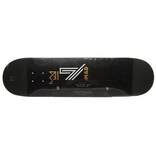 Дека для скейтборда для скейтборда Nomad Og Logo Black Deck Black 31.75 x 8.0 (20.3 см)Ширина деки: 8.0 (20.3 см)    Длина деки: 31.75 (80.6 см)    Количество слоев: 7Уникальная дека из клена со стильным принтом – подчеркни свой стиль и индивидуальность.Характеристики:Дизайн: Lucas Reis. 7-ми слойная конструкция из канадского клена.Конкейв: средний. Шкурка в комплекте.<br><br>Цвет: черный<br>Тип: Дека для скейтборда<br>Возраст: Взрослый<br>Пол: Мужской