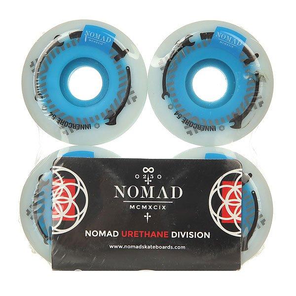 Колеса для скейтборда для скейтборда Nomad Innercore White/Blue 101A 54 mm