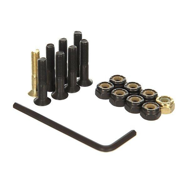 Винты для скейтборда Nomad Винты В Монетнице Green/Black/Gold Allen 1 (8 x Pack)Размер: 1    Тип винтов: для шестигранника    Цена указана за 1 комплект из 8 болтов, 8 гаек и шестигранникаКомплект винтов для вашего скейта.Характеристики:Материал: металл. Шестигранник в комплекте. Набор из 8-ми винтов, 8-ми гаек и шестигранника.Упакованы в монетницу.<br><br>Цвет: черный,желтый<br>Тип: Винты для скейтборда<br>Возраст: Взрослый<br>Пол: Мужской