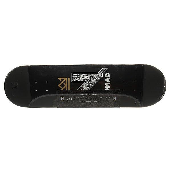 Дека для скейтборда Nomad N-Gang Logo Black Deck Black 32.5 x 8.5 (21.6 см)