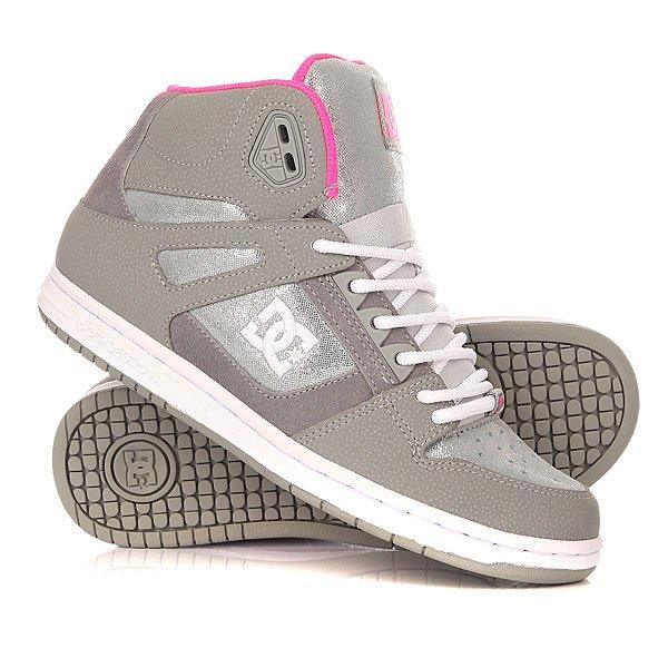 Кеды кроссовки высокие женские DC Rebound High Se Silver кеды кроссовки высокие женские dc rebound high tx navy gum