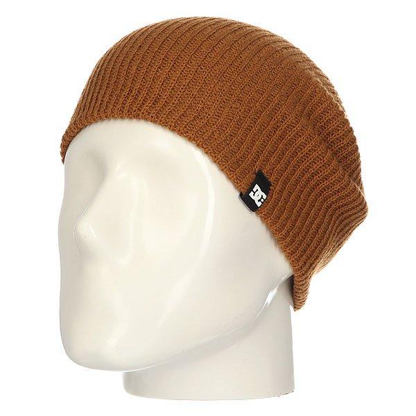 Шапка носок DC Clap WheatУниверсальная вязаная шапка-носок из мягкого акрила.Технические характеристики: Мягкая на ощупь.Эластичная текстура.Длинная макушка.Можно носить с отворотом.Ярлычок с логотипом DC.<br><br>Цвет: коричневый<br>Тип: Шапка носок<br>Возраст: Взрослый<br>Пол: Мужской