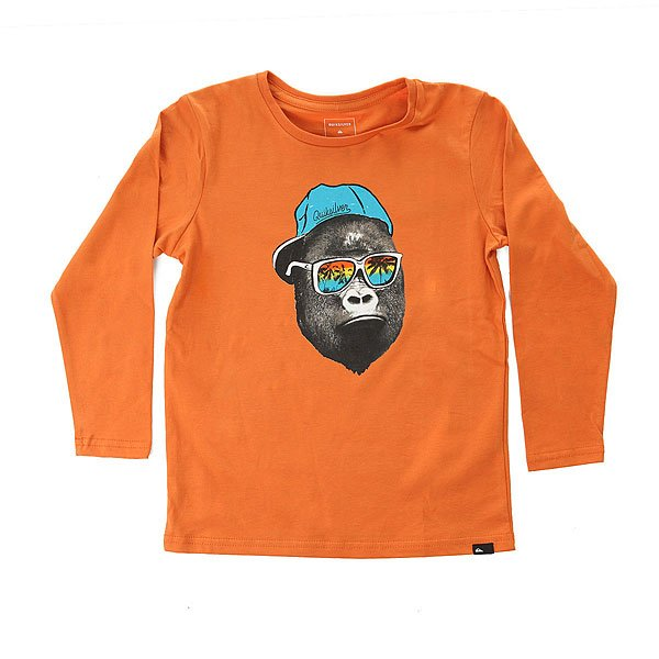 Лонгслив детский Quiksilver Lsclastebokongb Apricot Orange<br><br>Цвет: оранжевый<br>Тип: Лонгслив<br>Возраст: Детский