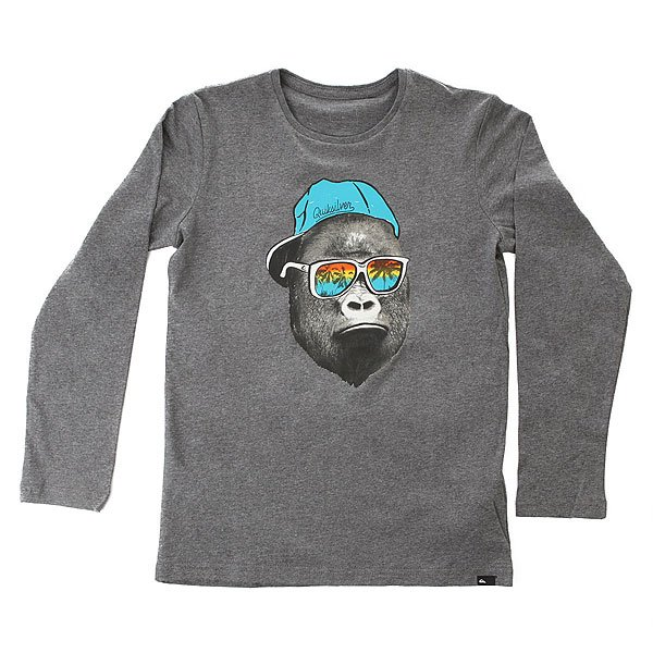 Лонгслив детский Quiksilver Lsclteytkongbus Medium Grey Heather