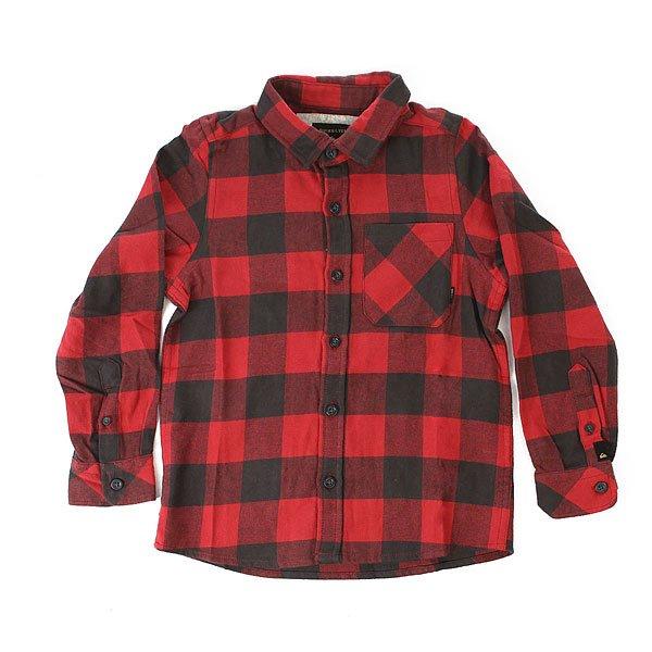 Рубашка в клетку детская Quiksilver Motherflyboy Garnet