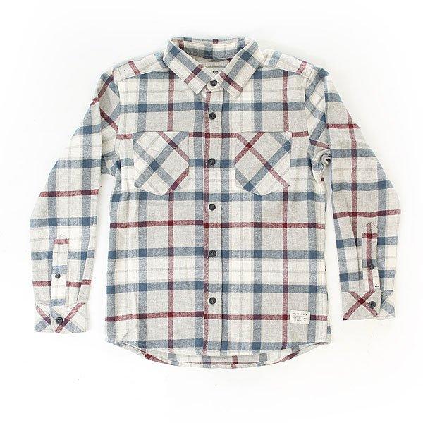 Рубашка в клетку детская Quiksilver Fitz Thrower yth Lgh<br><br>Цвет: серый<br>Тип: Рубашка в клетку<br>Возраст: Детский