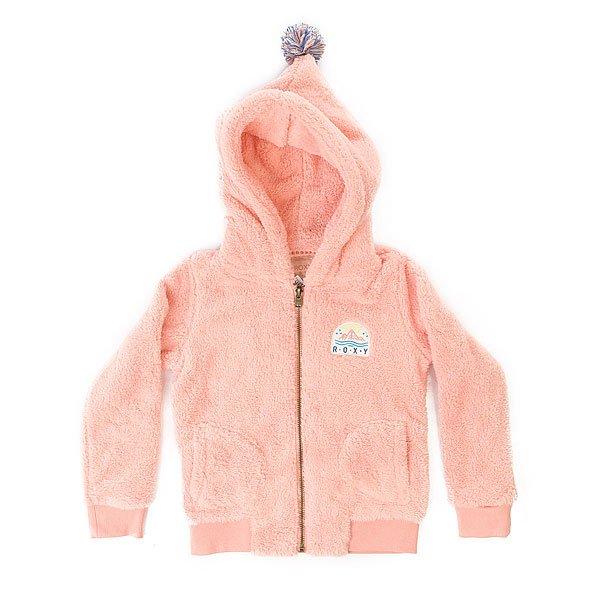 Толстовка утепленная детская Roxy Hangig K Plfl Peach Amber<br><br>Цвет: розовый<br>Тип: Толстовка утепленная<br>Возраст: Детский