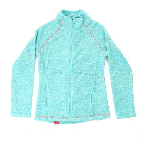 Толстовка классическая детская Roxy Harmony Blue Radiance<br><br>Цвет: голубой<br>Тип: Толстовка классическая<br>Возраст: Детский