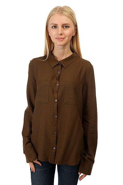 Рубашка женская Roxy Away Military Olive<br><br>Цвет: зеленый<br>Тип: Рубашка<br>Возраст: Взрослый<br>Пол: Женский