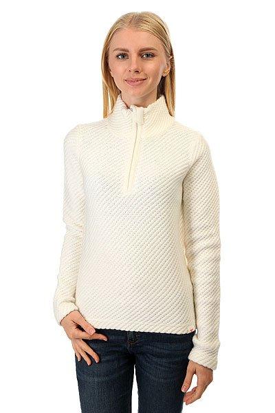 Свитер женский Roxy Rxxcourregesfl Bright WhiteУютный свитер для комфорта и тепла в холодное время года.Характеристики:Длинный рукав. Воротник-«стойка». Застежка – молния на воротнике.<br><br>Цвет: белый<br>Тип: Свитер<br>Возраст: Взрослый<br>Пол: Женский