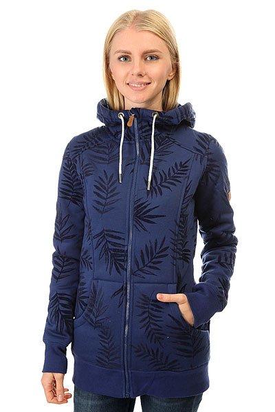 Толстовка утепленная женская Roxy Frost Printed Botanik Flockage<br><br>Цвет: черный,синий<br>Тип: Толстовка утепленная<br>Возраст: Взрослый<br>Пол: Женский