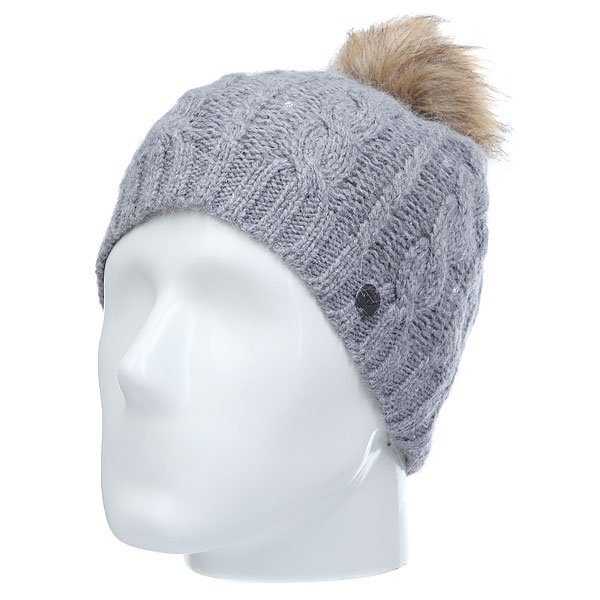 Шапка женская Roxy Shotstarpremium Mid Heather Grey