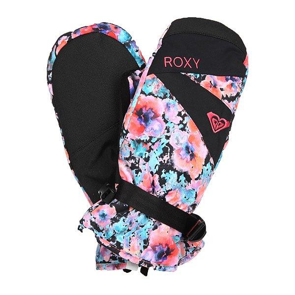 Варежки сноубордические женские Roxy Rx Jetty Mitt Madison Flowers True