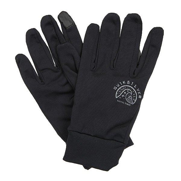 Перчатки Quiksilver City Glove BlackТонкие перчатки эргономичной формы с обработкой для пользования сенсорными устройствами.Технические характеристики: Эластичный полиэстер.Кончики указательного и большого пальцев подходят для пользования сенсорными экранами.Трафаретный принт на тыльной стороне ладони.<br><br>Цвет: черный<br>Тип: Перчатки<br>Возраст: Взрослый