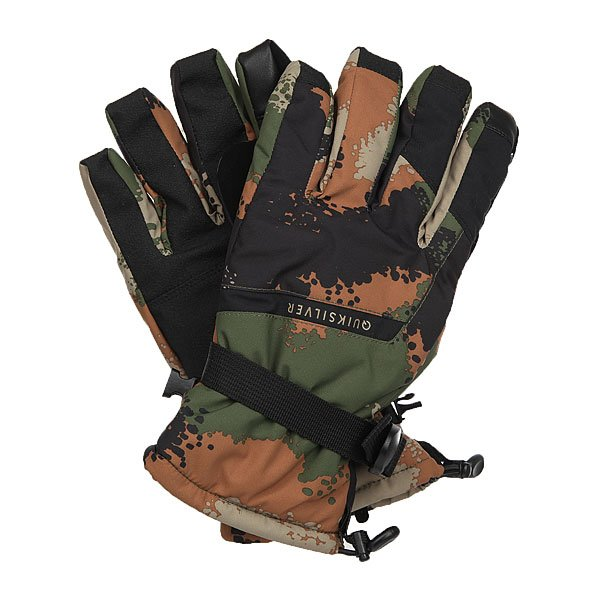 Перчатки сноубордические Quiksilver Mission Glove Waxdotcamo Army