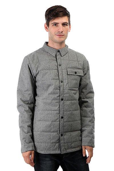 Куртка Quiksilver Agent Jacket Quiet ShadeПриключения как в горах, так и на улицах города могут стать существенно увлекательнее, если как следует подготовиться к ним при поддержке зимней коллекции Cold Winter. Опираясь на те же технологии DRYFLIGHT и WARMFLIGHT, что используются в нашей катальной экипировке, мы создали линейку технологичных уличных курток, которые дарят бескомпромиссное тепло и водонепроницаемую и дышащую защиту в любых, даже самых суровых погодных условиях.Характеристики:Утеплитель Warmflight® (100 г). Застегивается на кнопки. Нагрудный карман. Карманы с утепленной подкладкой на молнии.<br><br>Цвет: серый<br>Тип: Куртка<br>Возраст: Взрослый<br>Пол: Мужской
