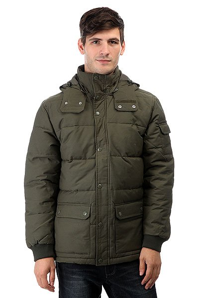 Куртка зимняя DC Arctic 3 Fatigue GreenМужская куртка Arctic 2 от DC Shoes.Характеристики:Куртка с уплотнителем. Парусиновая ткань из хлопка и нейлона. Водостойкая пропитка степени 600 мм. Съемный капюшон. Манжеты в рубчик. Нарочито стеганый дизайн.Контрастная цветная подкладка из полиэстера. Внутренний карман.Нижние карманы с двойной прорезью – сбоку и сверху. Пластиковая молния и кнопки-застежки DC спереди. Ярлык DC спереди внизу. Фурнитура и отделка с маркировкой DC.<br><br>Цвет: зеленый<br>Тип: Куртка зимняя<br>Возраст: Взрослый<br>Пол: Мужской