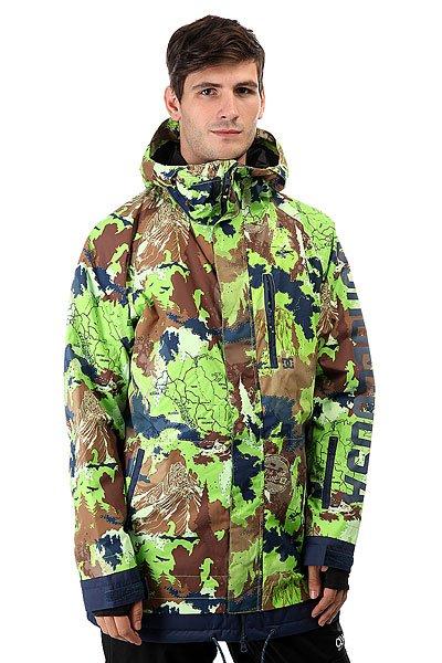 Куртка DC Ripley Travel GoodsКуртка DC Ripley готова стать Вашим главным помощником этой зимой. Влагостойкая ткань Exotex 10K позволит дольше оставаться сухим, а утеплитель (80гр тело и 40гр рукава) сохранит Вас в тепле даже в самые холодные дни. Внутренние манжеты и снегозащитная юбка помогут не допустить попадания снега под одежду, ведь какой смысл от утеплителя, когда у Вас под курткой куча снега? Характеристики:Утеплитель 80гр тело и 40гр рукава. Свободный крой. Проклеенные критические швы. Сетчатые карманы для вентиляции. Снегозащитная юбка. Капюшон с 3 вариантами регулировки. Внутренние манжеты из лайкры. Регулируемые манжеты на липучке.Карман на молнии на рукаве для ски-пасса. Нагрудный медиа-карман на молнии. Два передних кармана на молнии. Логотип на рукаве. Регулируемый подол. Внутренний сетчатый карман. Внутренний карман на липучке. Подкладка: тафта.<br><br>Цвет: мультиколор<br>Тип: Куртка утепленная<br>Возраст: Взрослый<br>Пол: Мужской