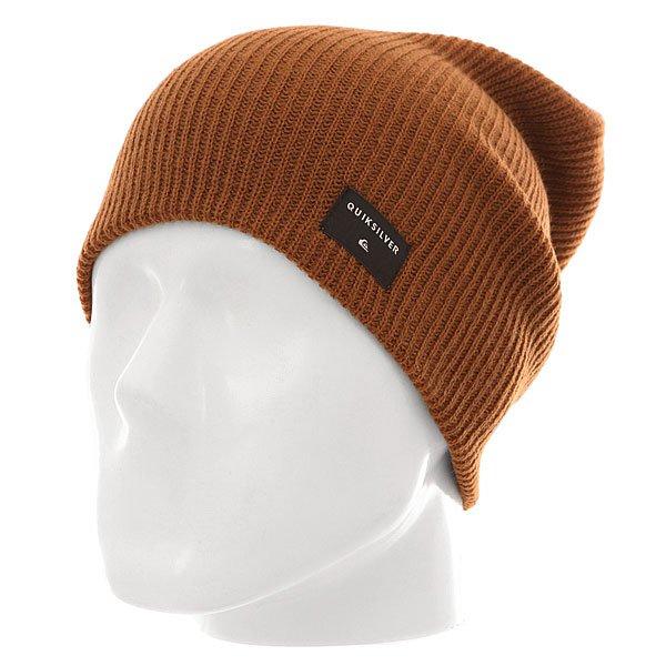 Шапка носок Quiksilver Cushy Slouch M Hats Bear<br><br>Цвет: коричневый<br>Тип: Шапка носок<br>Возраст: Взрослый<br>Пол: Мужской