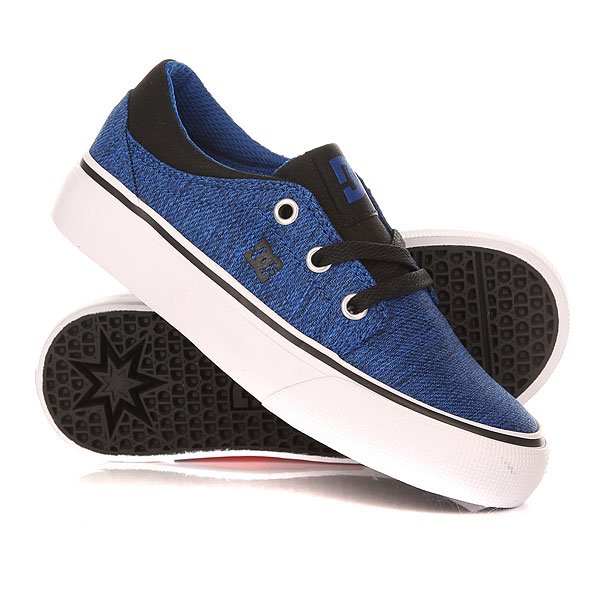 Кеды кроссовки низкие детские DC Trase Tx Se Tod Blue/Black/White
