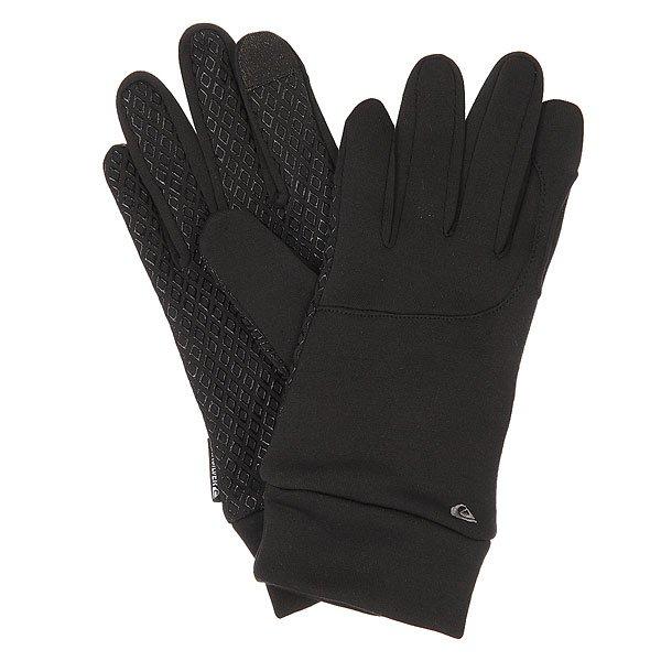 Перчатки Quiksilver Toonka BlackМужские перчатки Quiksilver Toonka. Позволяют пользоваться сенсорными устройствами не снимая перчаток.Характеристики:Сделаны из эластичного полиэстера 93 % полиэстер, 5 % эластан. Внутри флисовая подкладка.Силиконовый принт на ладонях препятствует скольжению.Лого.<br><br>Цвет: черный<br>Тип: Перчатки<br>Возраст: Взрослый<br>Пол: Мужской