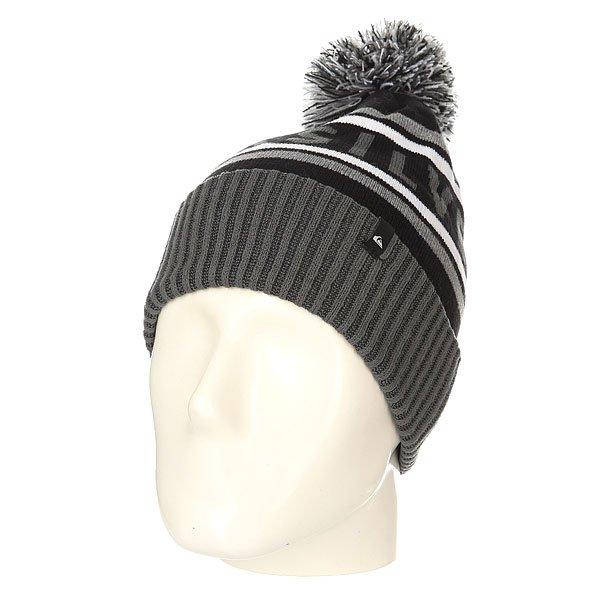 Шапка Quiksilver Spillage Black<br><br>Цвет: серый,черный,белый<br>Тип: Шапка<br>Возраст: Взрослый<br>Пол: Мужской