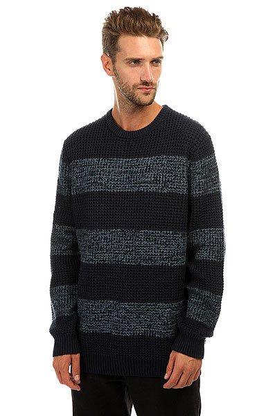 Свитер Quiksilver Stunninglight Navy BlazerВязаный мужской свитер с полосатым принтом в стиле Colour Block.Технические характеристики: Свободный полосатый дизайн.Дизайн в стиле Colour Block.Воротник с круглым вырезом.Эластичные, вязаные манжеты, воротник и подол.Крупная текстурная вязка.<br><br>Цвет: синий<br>Тип: Свитер<br>Возраст: Взрослый<br>Пол: Мужской