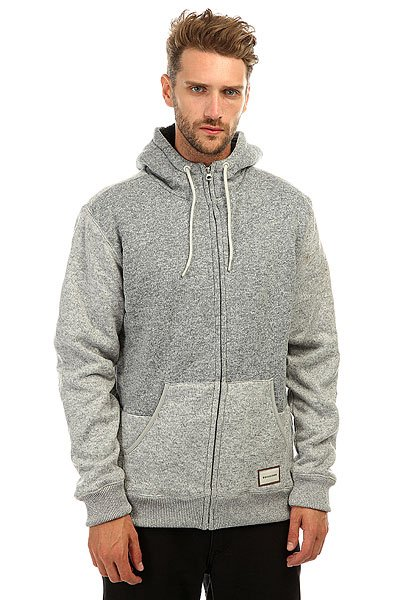 Толстовка утепленная Quiksilver Kellersherpa Light Grey Heather
