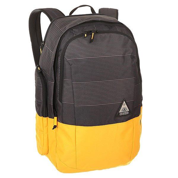 Рюкзак городской Ogio Clark Pack LockdownСтильный и в то же время функциональный рюкзак от Ogio. Имеются специализированные отсеки для ноутбука и планшета, которые позволят Вам не переживать за сохранность техники. Большое основное отделение вместит все необходимые вещи, а внешние боковые карманы на молнии помогут всегда держать необходимые аксессуары поблизости.Характеристики:Изолированный отсек для 15-дюймового ноутбука с флисовой подкладкой.Вместительный основной отдел с мягким карманом для планшета. Передний отдел с панелью-органайзером и карманом для ценных вещей на молнии. Два вместительных внешних боковых кармана. Практичная стеганая задняя панель. Легкие эргономичные плечевые лямки с ремешком на груди. Фирменный логотип Ogio.<br><br>Цвет: черный,желтый,серый<br>Тип: Рюкзак городской<br>Возраст: Взрослый