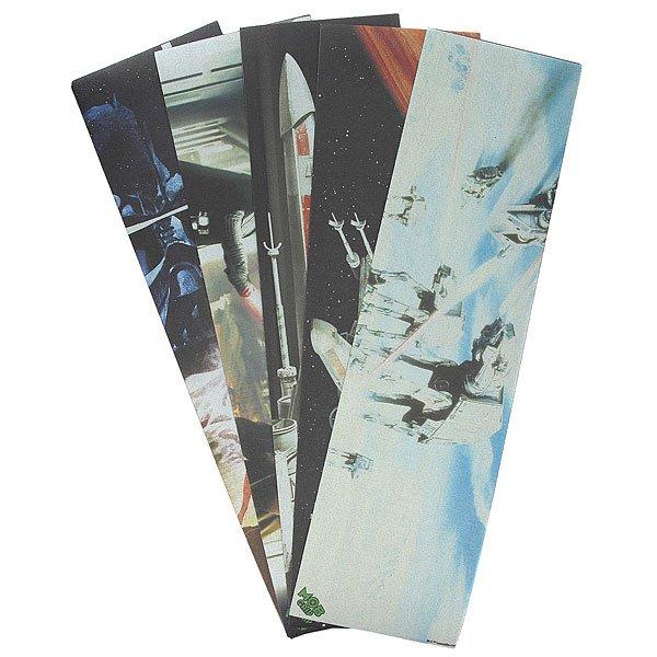 Шкурка для скейтборда для скейтборда Mob Grip Tape Star Wars Scenes (5-Pack) AssortedШкурки Mob - выбор профессиональных скейтбордистов. Эксклюзивная коллекция  Star Wars™.Технические характеристики: Едва заметная перфорация, которая предотвращает образование пузырей.Эксклюзивное зернистое покрытие из карбид-кремния устойчивое к износу.Высокая прочность и влагоустойчивость.Супер липкий клей, устойчивый к высоким и низким температурам.5 штук в упаковке.<br><br>Цвет: мультиколор<br>Тип: Шкурка для скейтборда<br>Возраст: Взрослый<br>Пол: Мужской