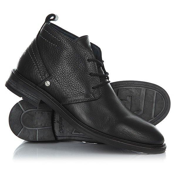 Ботинки высокие Wrangler Roll Desert Leather Black