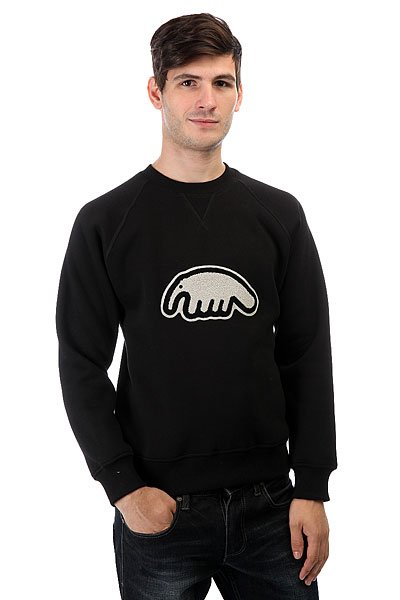 Толстовка свитшот Anteater Crewneck Patch Black