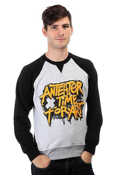 Толстовка свитшот Anteater Crewneck Timeforart Black/Grey