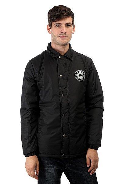 Куртка Anteater Wcoach BlackЛегкая тренерская куртка от Anteater на кнопках.Характеристики:Классическая удобная модель. Карманы и основная планка на молнии. Материал:Dewspo. Утеплитель Isosoft. Внутренняя подкладка из тафты. Классический воротник. Принт-логотип на груди.<br><br>Цвет: черный<br>Тип: Куртка<br>Возраст: Взрослый<br>Пол: Мужской
