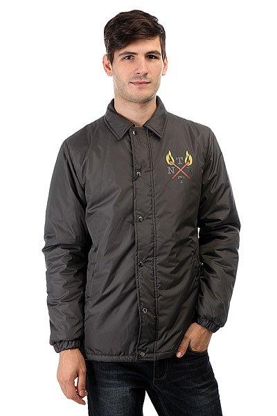 Куртка Anteater Wcoach GreyЛегкая тренерская куртка от Anteater на кнопках.Характеристики:Классическая удобная модель. Карманы и основная планка на молнии. Материал:Dewspo. Утеплитель Isosoft. Внутренняя подкладка из тафты. Классический воротник. Принт-логотип на груди.<br><br>Цвет: серый<br>Тип: Куртка<br>Возраст: Взрослый<br>Пол: Мужской