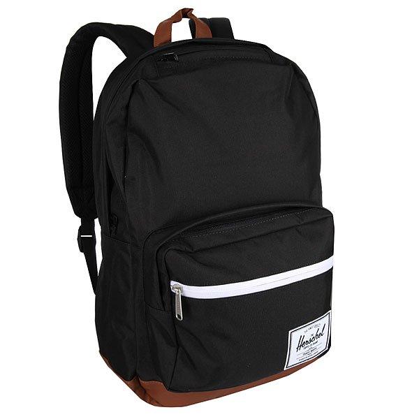 Рюкзак городской Herschel Pop Quiz Black/Tan Synthetic LeatherВ этом рюкзаке классические линии оформлены в аккуратную упаковку, что делает рюкзак Herschel Pop Quiz отличным вариантом для учебы или работы. Он снабжен мягким отсеком с флисовой подкладкой для 15-дюймового ноутбука, а для мелочей и канцелярских принадлежностей имеется внешний карман на молнии со встроенным сетчатым органайзером.Характеристики:Основной отсек на молнии.Внутренний карман с флисовой подкладкой для 15-дюймового ноутбука.Внутренний медиа-карман с портом для провода. Внешний карман на молнии со встроенным сетчатым органайзером. Нашивка с фирменным логотипом на кармане.Влагостойкая молния. Ручка для переноски. Регулируемые лямки.Верхний внешний карман с флисовой подкладкой для очков.<br><br>Цвет: черный<br>Тип: Рюкзак городской<br>Возраст: Взрослый