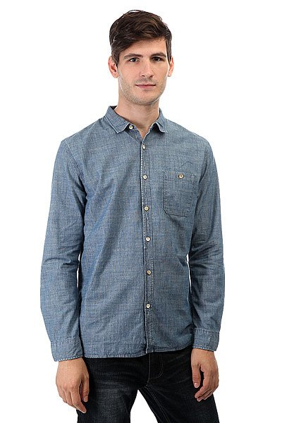 Рубашка Quiksilver Thechambray Bsnw Rinse<br><br>Цвет: синий<br>Тип: Рубашка<br>Возраст: Взрослый<br>Пол: Мужской