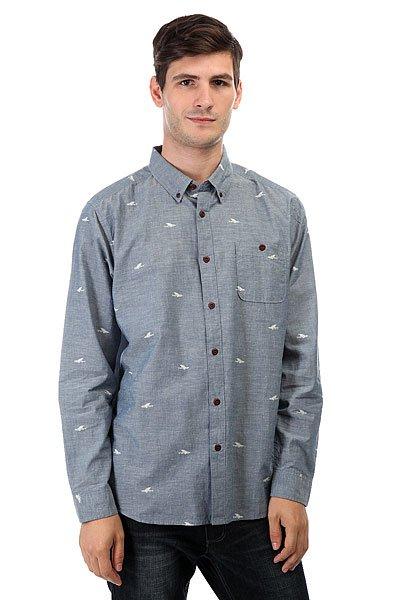 Рубашка Quiksilver Post Haste Ensign Blue<br><br>Цвет: синий<br>Тип: Рубашка<br>Возраст: Взрослый<br>Пол: Мужской