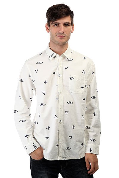 Рубашка Quiksilver Eyeforaneyeshir Snow White quiksilver рубашка quiksilver dark trip shirt wvtp dark trip snow white