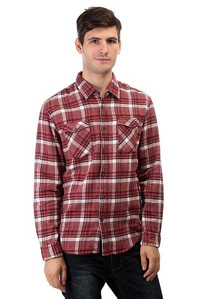 Рубашка в клетку Quiksilver Lost Wave Lost Wave Wild Ginge<br><br>Цвет: бордовый<br>Тип: Рубашка в клетку<br>Возраст: Взрослый<br>Пол: Мужской