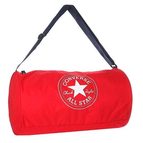 Сумка спортивная Converse Standard Duffel Poly RedПрактичная и вместительная сумка для спорта или путешествий.Технические характеристики: Одно основное отделение на молнии.Регулируемый плечевой ремень.Крупный принт с логотипом Converse.<br><br>Цвет: красный<br>Тип: Сумка спортивная<br>Возраст: Взрослый<br>Пол: Мужской