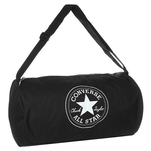 Сумка спортивная Converse Standard Duffel Poly BlackПрактичная и вместительная сумка для спорта или путешествий.Технические характеристики: Одно основное отделение на молнии.Регулируемый плечевой ремень.Крупный принт с логотипом Converse.<br><br>Цвет: черный<br>Тип: Сумка спортивная<br>Возраст: Взрослый<br>Пол: Мужской