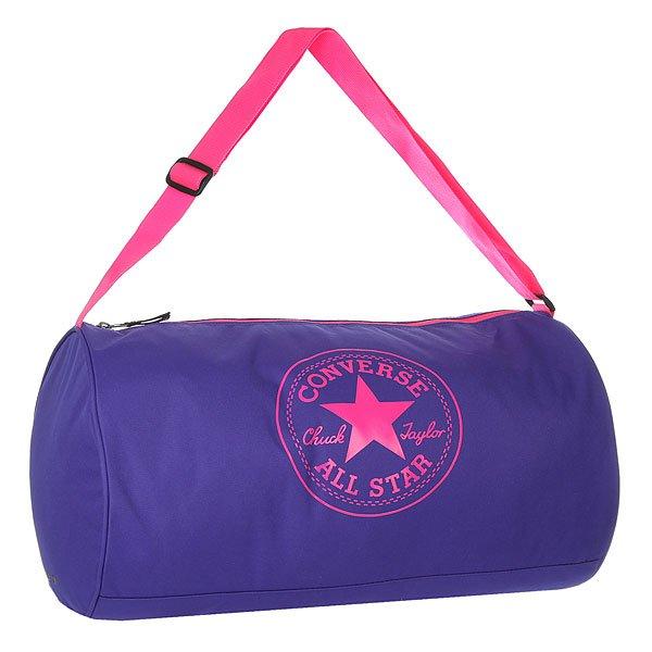 Сумка спортивная женская Converse Standard Duffel Poly Blue/PinkПрактичная и вместительная сумка для спорта или путешествий.Технические характеристики: Одно основное отделение на молнии.Регулируемый плечевой ремень.Крупный принт с логотипом Converse.<br><br>Цвет: синий,розовый<br>Тип: Сумка спортивная<br>Возраст: Взрослый<br>Пол: Женский