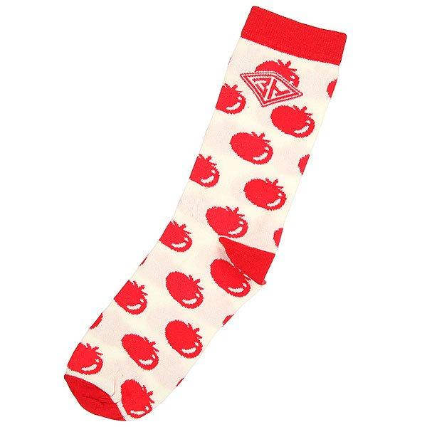 Носки средние Запорожец Помидоры Белый/Красный<br><br>Цвет: бежевый,красный<br>Тип: Носки средние<br>Возраст: Взрослый<br>Пол: Мужской