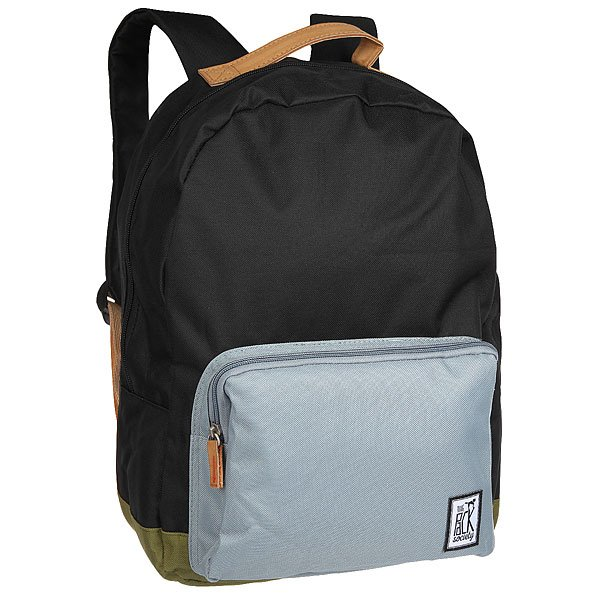 Рюкзак городской The Pack Society D-Pack Backpack Black/Grey/Olive-01