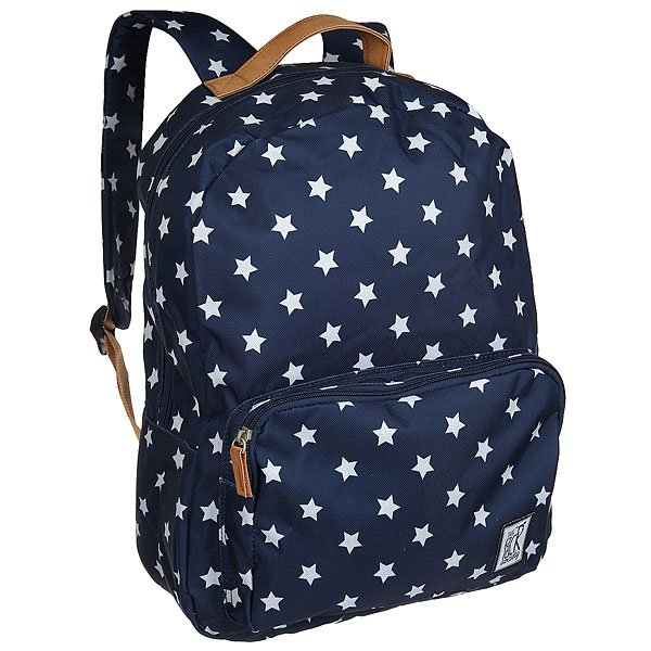 Рюкзак городской The Pack Society Classic Backpack Navy With White Stars Allover